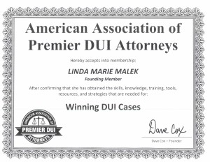 Akron DUI Attorney Certification
