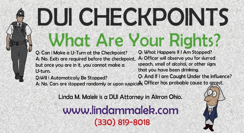 Ohio DUI Checkpoints - Your Rights - Linda Malek: Akron DUI